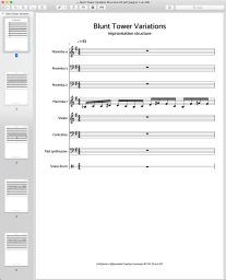 Bladmuziek structuur